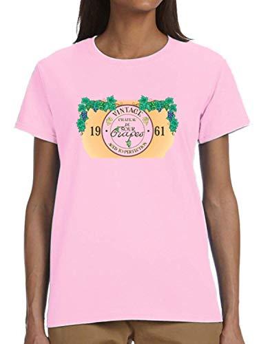 (comtempptt Vintage Chateau de Sour Grapes Aged to Perfection 1961 Ladies T-Shirt)