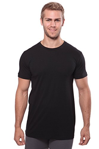 Texere Crew Neck Undershirt for Men (Dexx, Black, L) for Husband