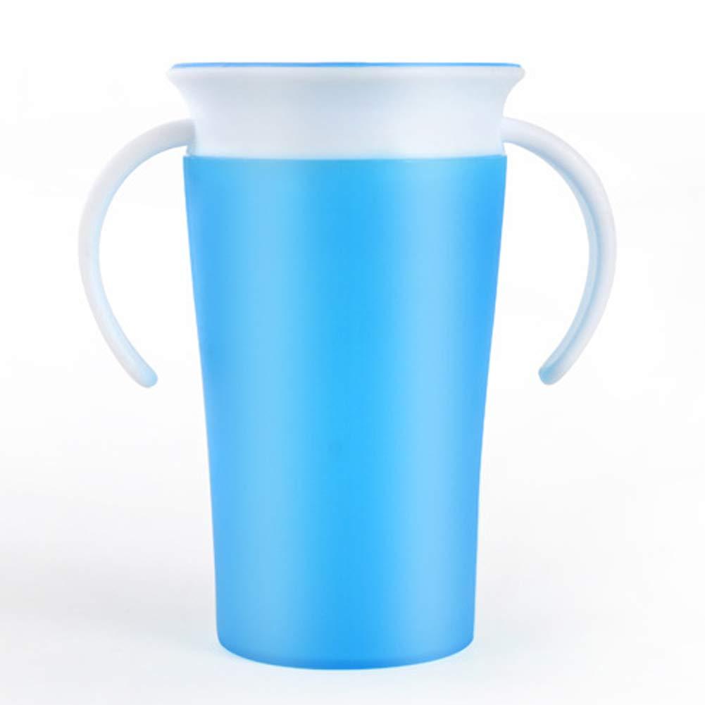 Gobelet à boire étanche à la magie pour enfants Coupe à 360 degrés pour enfants (bleu) 1PC Xiton