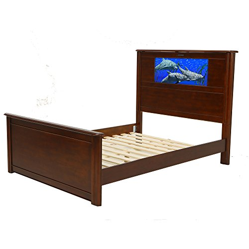LightHeaded Beds 20197 Riviera Full Bed with Changeable Back-Lit LED Imagery Headboard, Cheshire Cherry Review