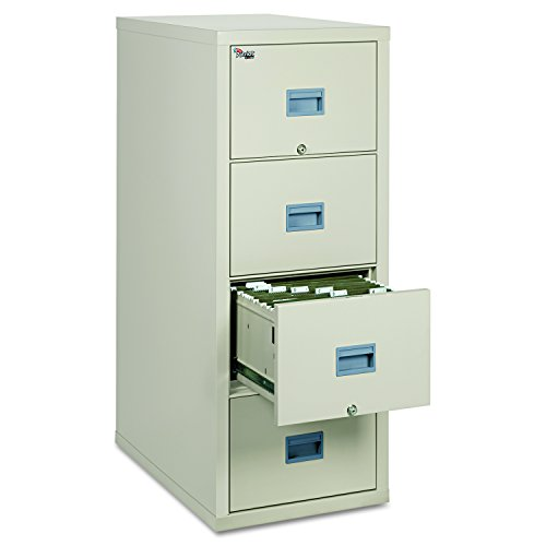 FireKing Patriot 4P1831-CPA One-Hour Fireproof Vertical Filing Cabinet, 4 Drawers, Deep Letter, 18