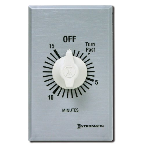 Intermatic FF460M 60-Minute Spring Loaded Wall Timer, Brushed Metal by Intermatic