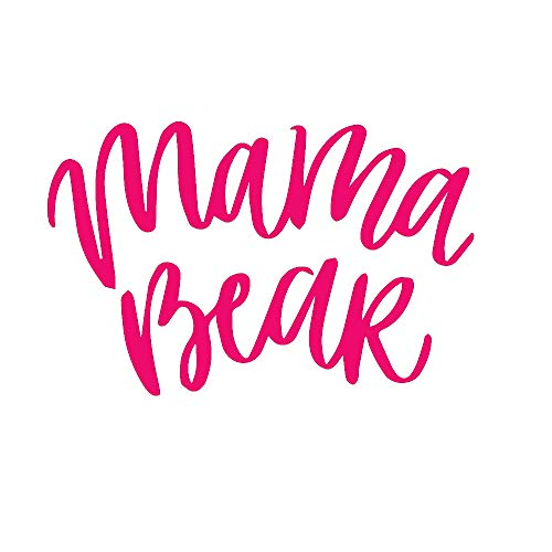 - ANGDEST Mama Bear Phrase (Pink) (Set of 2) Premium Waterproof Vinyl Decal Stickers for Laptop Phone Accessory Helmet Car Window Bumper Mug Tuber Cup Door Wall Decoration