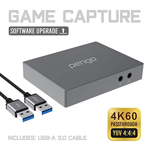 Pengo 4K HDMI Pass-Through Grabber, Game Capture Card at 1080p @60, No Driver, USB 3.0 UVC Works with Win, Mac OSX, min to no Latency, Livestream for Xbox One, PS4 (no HDCP), Switch (Aluminum) (Introductory Guide To High Performance Audio Systems)