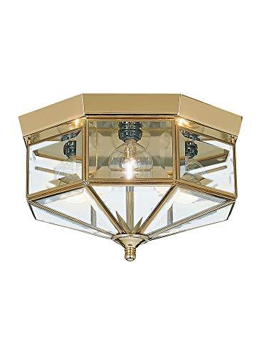 Sea Gull Lighting 7662-02 Four Light Flush Mount Ceiling Fixture, 11