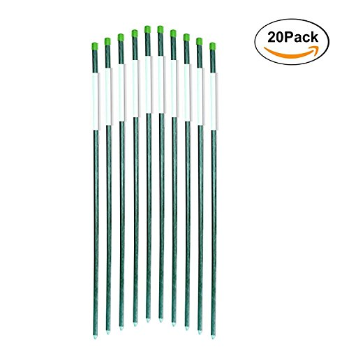 FiberMarker Reflective Driveway Markers 72-Inch Dark Green 20-Pack 5/16-Inch Dia Solid Driveway Poles for Easy Visibility at Night Reflections Solid Green