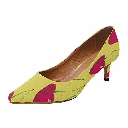 Scarpe Da Donna Low Cost Con Tallone Gattino A Punta Appuntita Shoes Cherry Background Multi 1