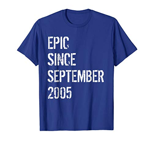 Born In September 2005 Birthday Gift T-Shirt 13 Year Old