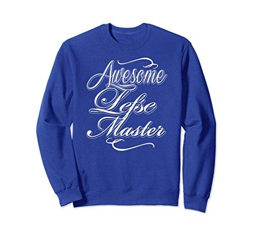 Unisex Awesome Lefse Master Norwegian Flatbread Potato Sweatshirt XL: Royal Blue