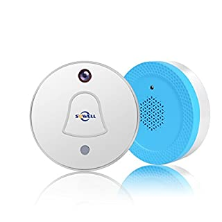 SOWELL Smart Doorbell WiFi Doorbell with Photo Camera, Wireless Doorbell RF Receiver Chime, Auto Take Picture When Pressing, Free Cloud Storage, APP Push Notificationn with Visitor Snapshot for IOS An