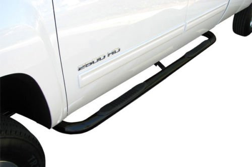 STEELCRAFT 200110 Premium FIT 88-98 CHEVY/GMC C/K Extended CAB (Incl. Z71) 2DR & 3DR 3' SIDE BARS BLACK Side Step Nerf Bar Running Board