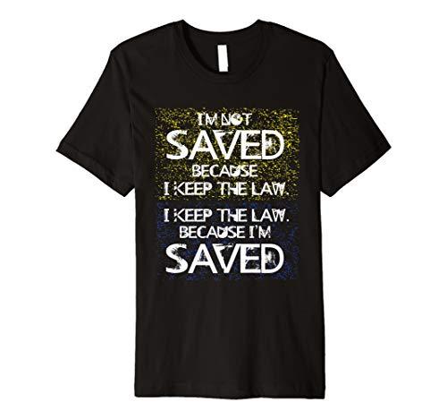 Hebrew Israelite Clothing Keep Law Because I'm Saved T-Shirt