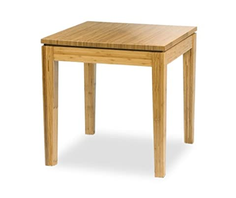 Bamboogle Interiors 30-2020H Brazil Collection Modern Bamboo End Table in Honey Caramel Finish - Bamboo Style Legs