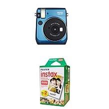 Fujifilm Instax Mini 70 Camera (Island Blue) with Twin Pack Film Bundle