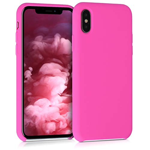 kwmobile TPU Silicone Case for Apple iPhone X - Soft Flexible Rubber Protective Cover - Magenta from kwmobile