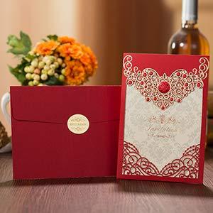 Tarjetas E Invitaciones 1 Muestra De Color Rojo Y Dorado
