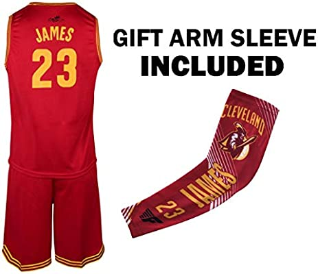various colors 9476d 12721 James Jersey Kids Lebron Basketball Red James Jersey & Shorts Youth Gift  Set ✓ Basketball Compression Shooter Arm Sleeve ✓ Premium Quality