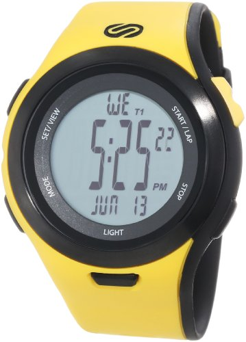 """Soleus Men's SR010901 """"Ultra Sole"""" Digital Watch with Yellow Band"""
