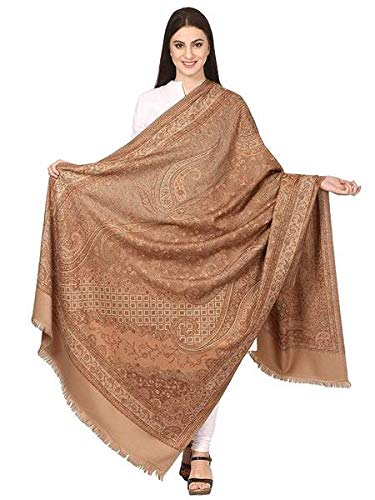 Women's Kashmiri Shawl, Jacquard, Warm and soft, Faux Pashmina Design (40 x 80 inches)