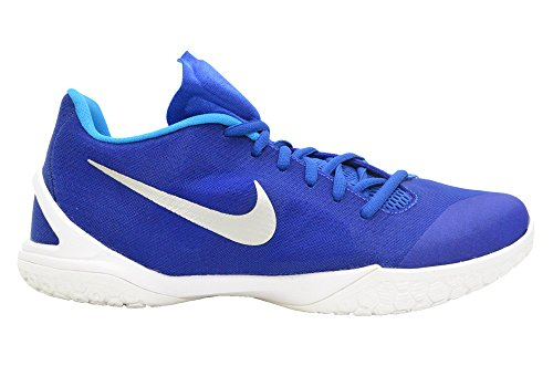Chaussures De Basketball Nike Hyperchase Mens Jeu Royal / Blanc / Bleu Héros / Argent Métallique