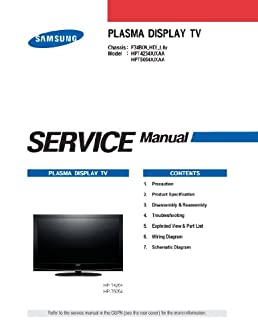 samsung hpt5054x xaa service manual and samsung hpt4254x xaa service rh amazon com