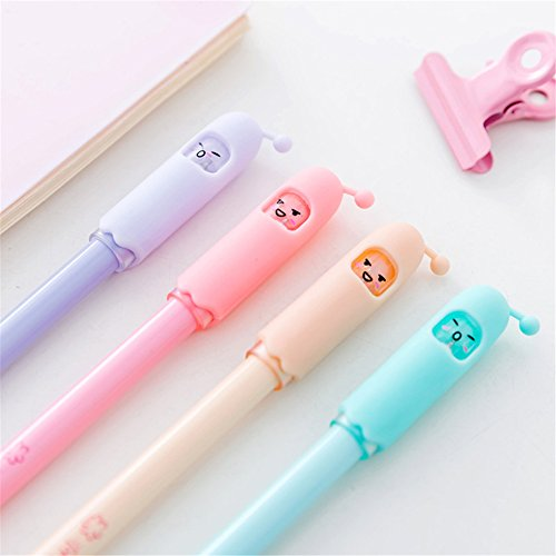 Cute Kawaii Extraterrestrial robot Shape Gel Ink Pens school office supplies for girls Stationery novelty pens for kids stationary (6)