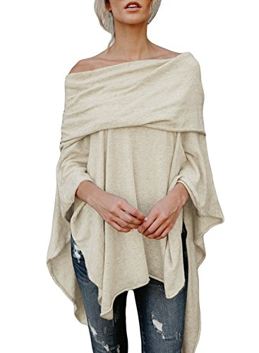 Astylish Womens Shoulder Batwing Irregular