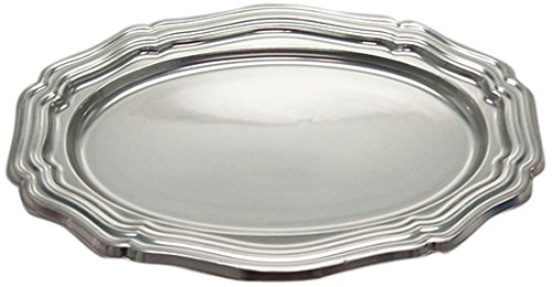 Gold Octagon Plastic Plates (Homeford Heavy Duty Banquet Dinner Dining Reflective Metallic Plastic, Silver, 16-Inch)