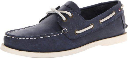 Tommy Hilfiger Men's Bowman Boat shoe, Navy, 10 M (Blue Boat Shoes)
