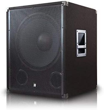 18 Zoll Aktiv Kraftvoller Bass und stabiles Design f/ür Indoor Anlagen 550 W eSmart Subwoofer HSR 312A