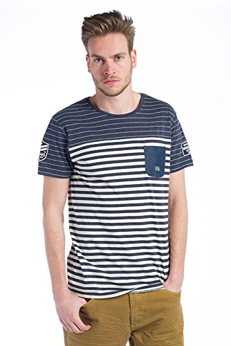 Koroshi Herren T-Shirt weiß weiß XL