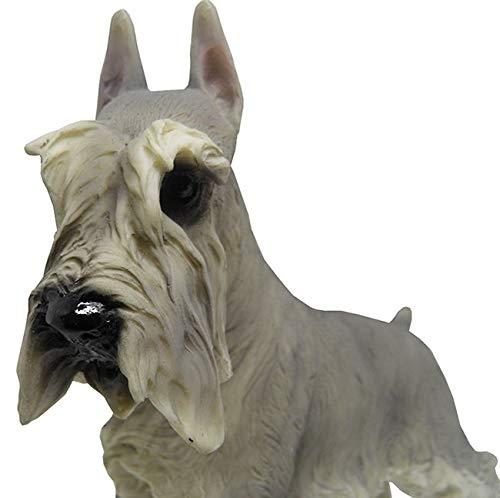 Escultura de Cachorro de Resina Miniatura Schnauzer Decoracao (9147)
