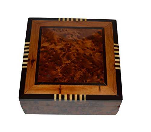 Treasures of MoroccoThuya Wood Moroccan Handcrafted Box Medium Jewelry