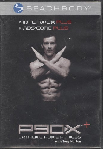 P90X Plus + Interval X Plus and ABS/Core DVD Workout Video Tony Horton Beachbody