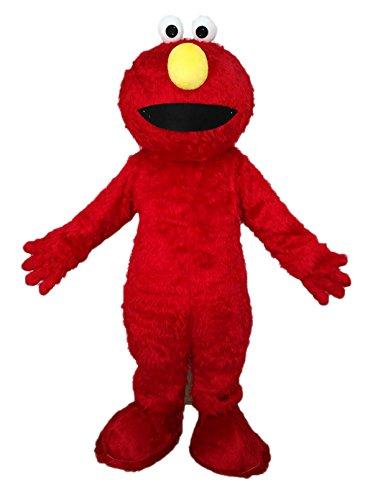 Funny Adults Elmo Mascot Costume Cartoon Character Elmo Monster Dress for Birthday Party