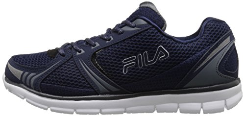 Fila Men's Luxey Running Shoe, Fila Navy/Castlerock/Metallic Silver, 11 M US