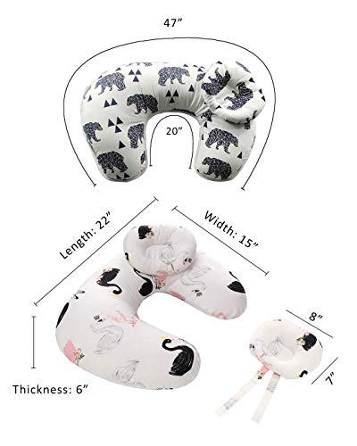 41tOdAo9SkL - Baby Breastfeeding Nursing Pillow And Positioner,Machine Washable, Nursing And Infant Support Pillow Bonus Head Positioner New Package(Bear)