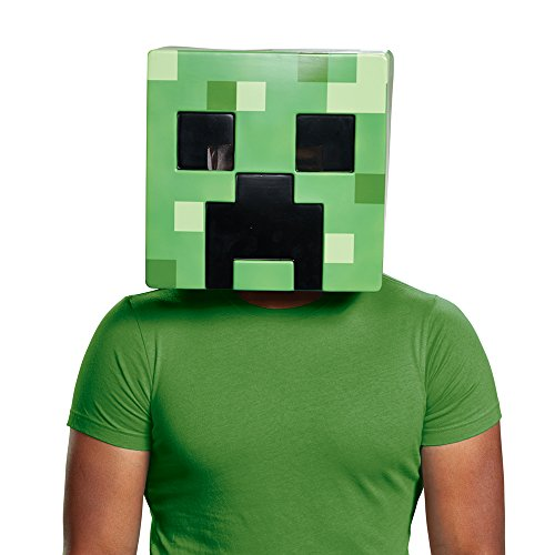 Minecraft Creeper Costume - Disguise Men's Creeper Adult Mask, Green,
