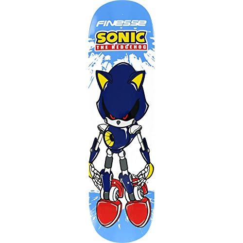 Finesse Sega Metal Sonic Skateboard Deck -7.75 - (Bundled with Free 1'' Hardware Set)