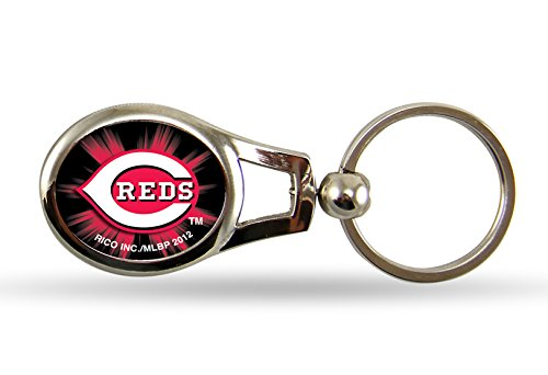 Reds Key Cincinnati (MLB Cincinnati Reds Oval Keychain)