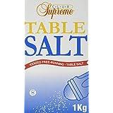 Club Supreme Fine Table Salt - 1Kg Of Iodized Salt - Kosher Certified