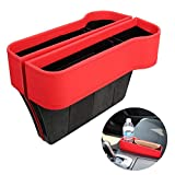 VVHOOY 2 Pack Car Seat Gap Filler with Cup Holder Organizer,PU Leather Seat Console Organizer Pocket, Car Seat Catcher Between Seats Organizer Side Drop Caddy Catcher,Auto Interior Accessories