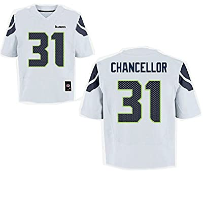 OuterStuff Kam Chancellor Seattle Seahawks NFL Youth White Road Mid-Tier Jersey