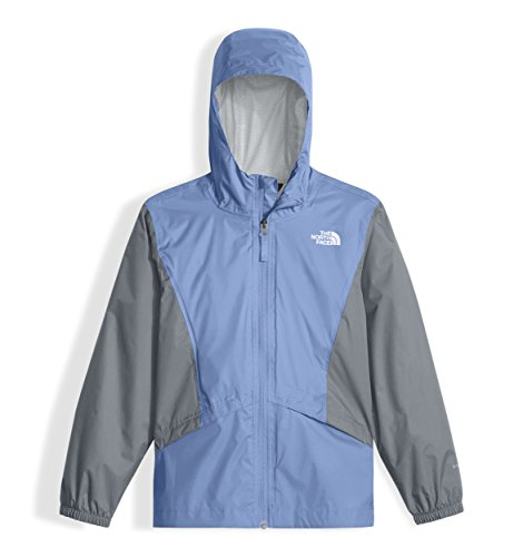 The North Face Girl's Zipline Rain Jacket - Collar Blue - L - Collar A-line Coat
