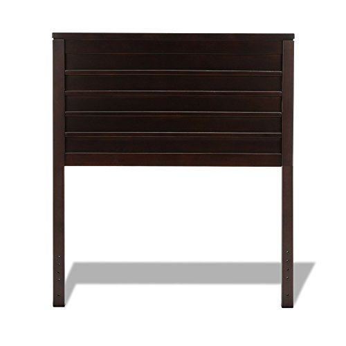 (Leggett & Platt Uptown Wood Headboard Panel with Horizontal Boards and Vertical Posts, Espresso Finish, Twin)