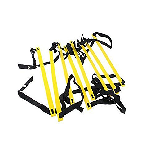 AGPtEK 8-Rung Agility Ladder 4 M Yellow & Black Durable For Speed Skills Soccer Football Fitness Feet Training