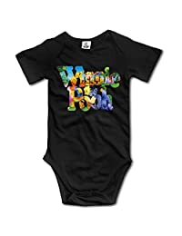 Winnie The Pooh Organic For Climbing Clothes Infant Rompers - Black