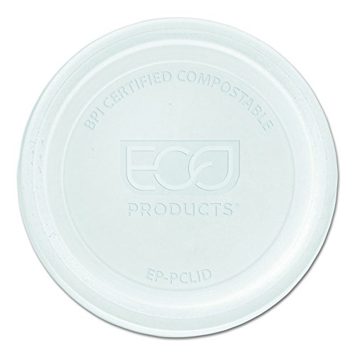 Eco-Products - Renewable & Compostable Portion Cup Lids - Universal to Fit all Sizes - EP-PCLID (Case of 2,000)