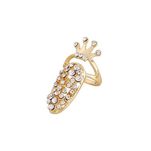winters-secret-gold-color-diamond-accented-crown-manicure-fingernail-ring