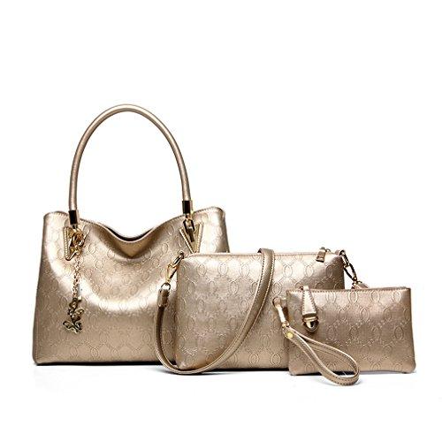 bbfab7001d (click photo to check price). 1. Montmo 3 Pcs Purses and Handbags Set Top-Handle  Shoulder Bag Purse for Women ...